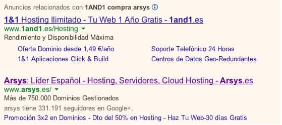 1and compra arsys