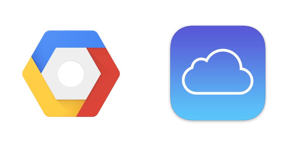 apple icloud y google cloud