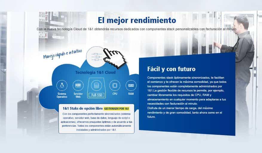 el mejor rendimiento cloud computing