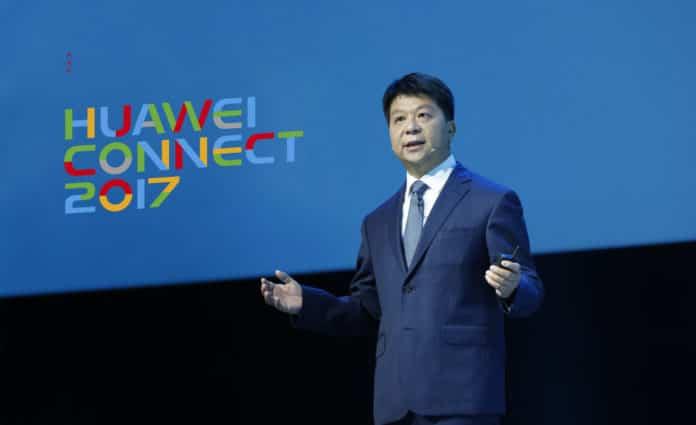 Guo Ping, CEO rotatorio de Huawei, durante su intervención en Huawei Connect.