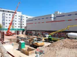 Labores de cimentación para la construcción de MAD3.