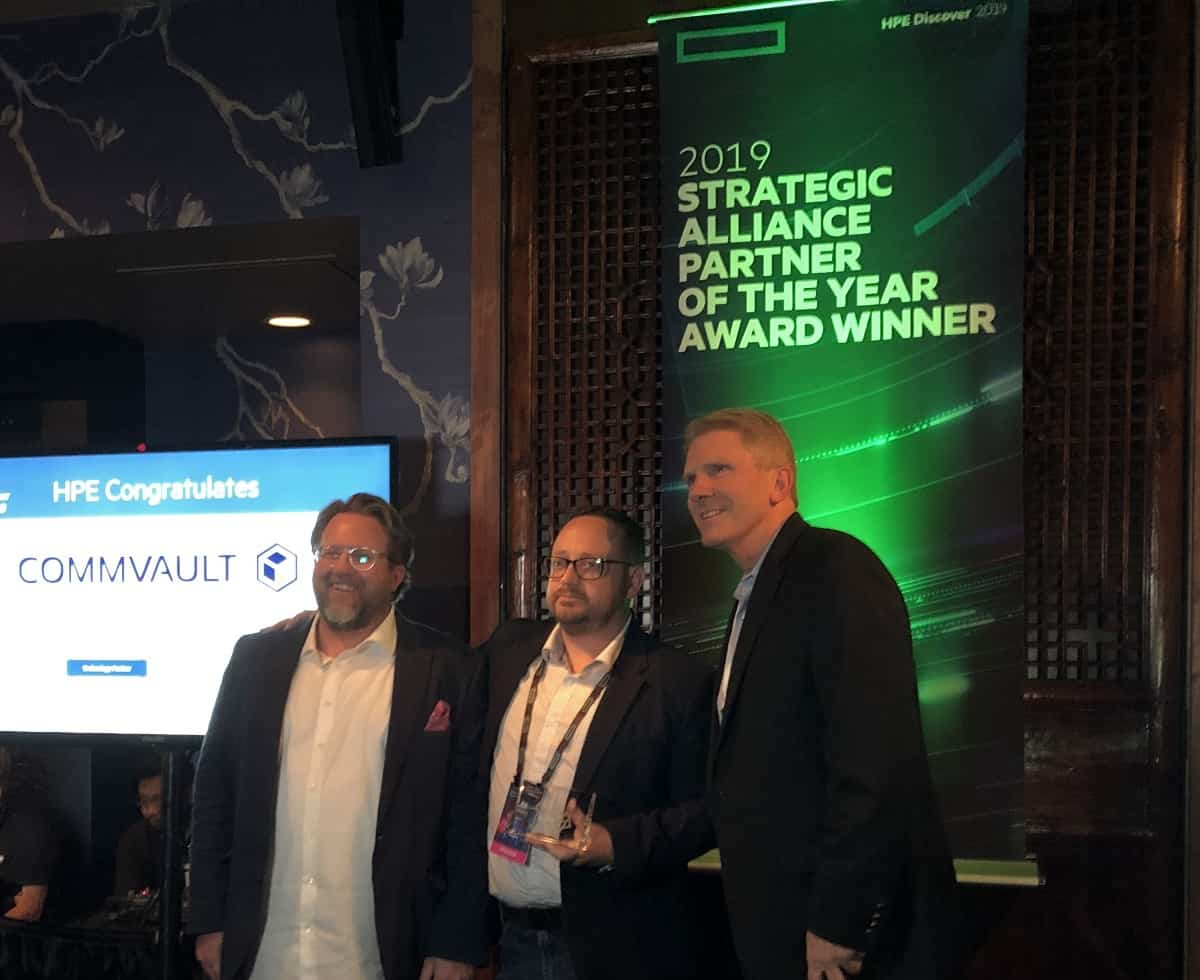 hpe premia a commvault